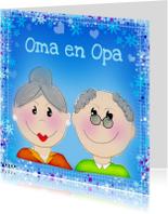 Felicitatiekaarten - Oma en opa blauw