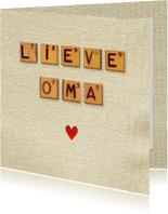 Opa & Omadag kaarten - Oma lief hart