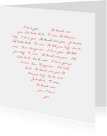 Liefde kaarten - Omdat ik zoveel van je ...