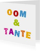 Felicitatiekaarten - Oom & Tante