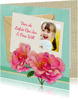Opa & Omadag kaarten - Opa en Oma dag bloemen foto