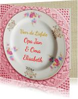 Opa & Omadag kaarten - Opa en Oma dag porselein