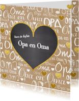 Opa & Omadag kaarten - Opa en Oma hartje kraft