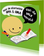 Opa & Omadag kaarten - Opa & Omadag kaart Smiley