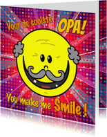 Opa & Omadag kaarten - Opa you make me smile