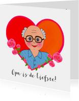 Opa & Omadag kaarten - Opadag kaart Liefste Opa