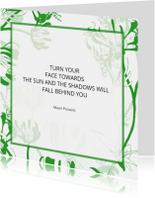 Spreukenkaarten - Opbeurende Kaart Met Bloemen