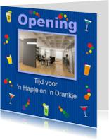 Uitnodigingen - Opening Hapje en Drankje foto zaak