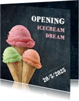Uitnodigingen - Opening ijswinkel - DH