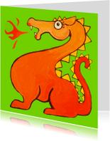 Kinderkaarten - Oranje draak