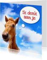Dierenkaarten - Paardenkaart Ik denk aan je