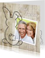 Paaskaarten - Paashaas doodle en foto - SG