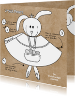 Paaskaarten - Paaskaart DIY hippe knutselkaart
