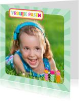 Paaskaarten - Paaskaart Eigen Foto Vrolijk Pasen