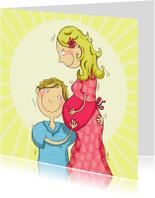 Felicitatiekaarten - Papa en mama luisteren