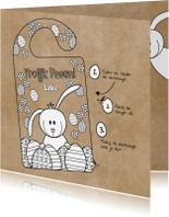 Paaskaarten - Pasen DIY deurhanger met paashaas