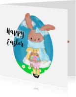 Paaskaarten - Pasen. Miss Bunny