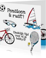 Felicitatiekaarten - Pensioenkaart sportief