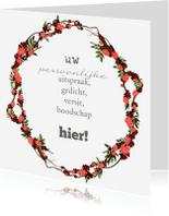 Coachingskaarten - Persoonlijke bloemenkrans rood