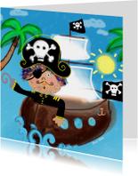 Verjaardagskaarten - Piraat