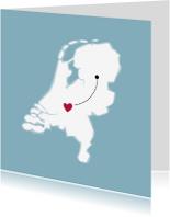 Verhuiskaarten - Plaatspin als hart verhuiskaart