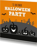 Halloween kaarten - Pompoen 2