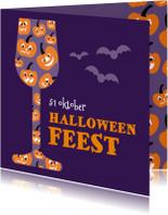 Halloween kaarten - Pompoen 3