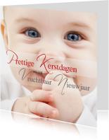 Zakelijke kerstkaarten - Prettige Kerstdagen baby