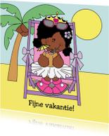 Vakantiekaarten - Prinses op vakantie.