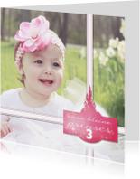 Kinderfeestjes - Prinsessenkaart met meisje