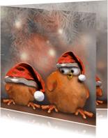 Kerstkaarten - Ptie Foe met een te grote muts..