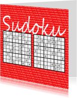 Zomaar kaarten - Puzzelkaart met twee sudoku's (I)