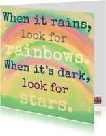 Sterkte kaarten - Rainbows and stars