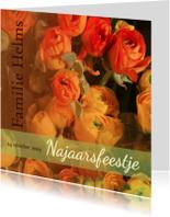 Uitnodigingen - Ranonkel oranje herfstkleur