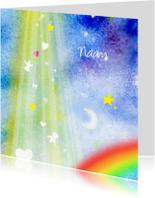 Rouwkaarten - Regenboog in de Hemel