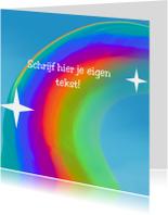 Kinderkaarten - Regenboog