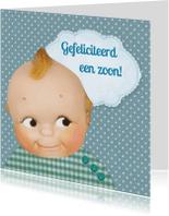 Felicitatiekaarten - retro baby zoon