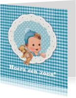 Felicitatiekaarten - retro babykaart jongen