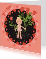 Moederdag kaarten - Retro moederdag kaartje