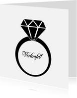 Trouwkaarten - ring verloofd