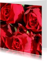 Bloemenkaarten - Rode rozen Anet Fotografie
