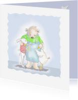 Condoleancekaarten - Rouw konijn beer en gans