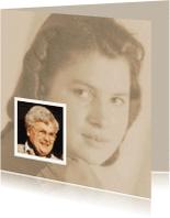 Rouwkaarten - rouwkaart foto jong oud