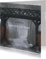 Rouwkaarten - Rouwkaart foto weg onder brug