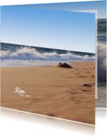 Rouwkaarten - Rouwkaart Hoge golven