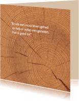 Rouwkaarten - Rouwkaart hout