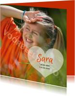 Rouwkaarten - rouwkaart kind foto