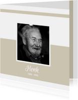 Rouwkaarten - Rouwkaart met foto (kleur naar keuze)