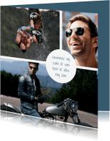 Rouwkaarten - Rouwkaart met fotocollage