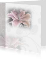rouwkaart met mooie lelie